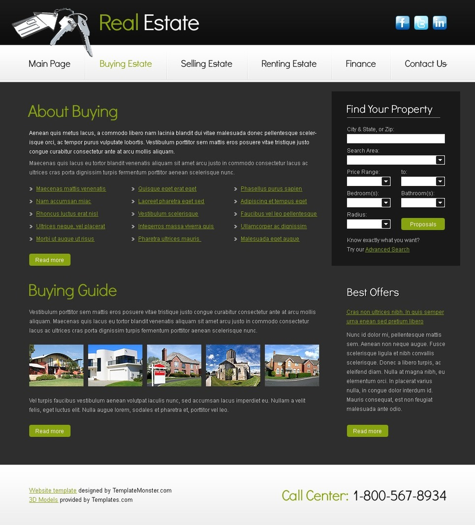 Free Website Template for Real Estate Company Website Template New Screenshots BIG