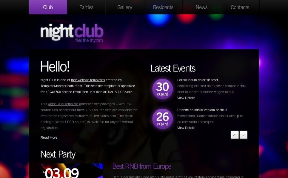 Free Website Template - Night Club Website Template New Screenshots BIG