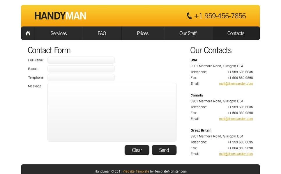 Free Website Template - Maintenance Services Website Template New Screenshots BIG