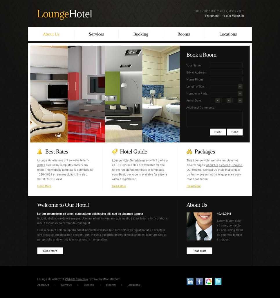 Free Website Template - Accordion Effect Website Template New Screenshots BIG