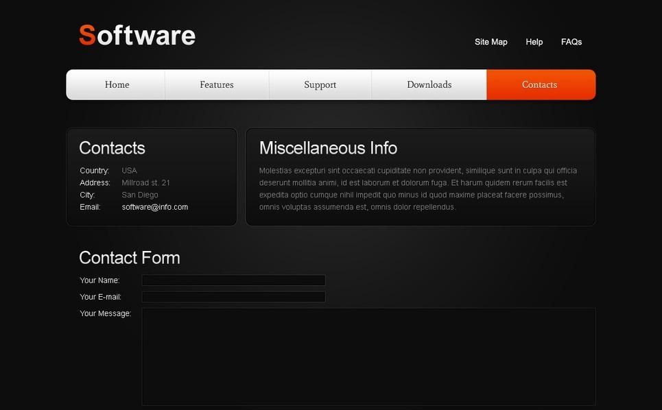 Free Website Template w/ jQuery Slider - Sotware Website Template New Screenshots BIG