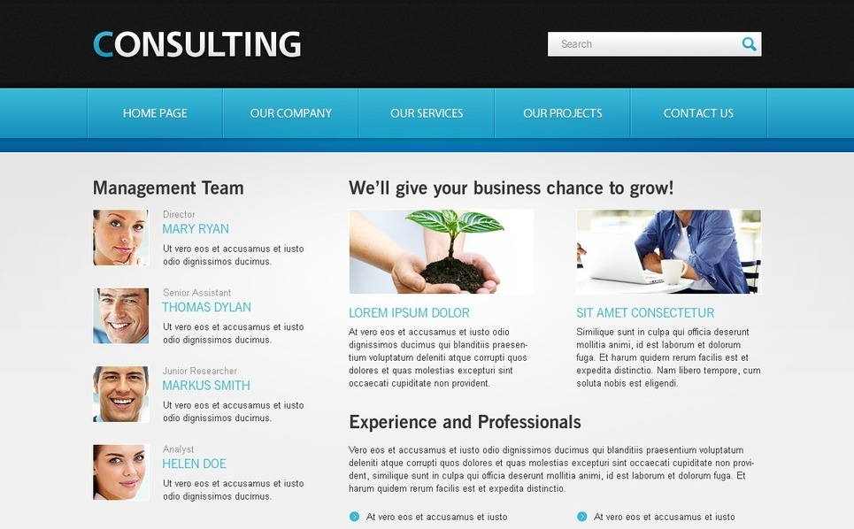 Free Website Template for Consulting Business Website Template New Screenshots BIG