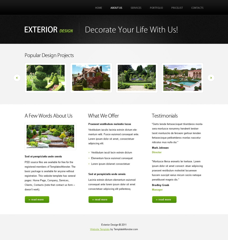 Free Website Template w/ jQuery Slideshow - Design Website Template New Screenshots BIG