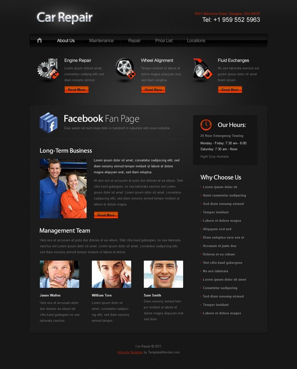 free website template for car auto website. Black Bedroom Furniture Sets. Home Design Ideas