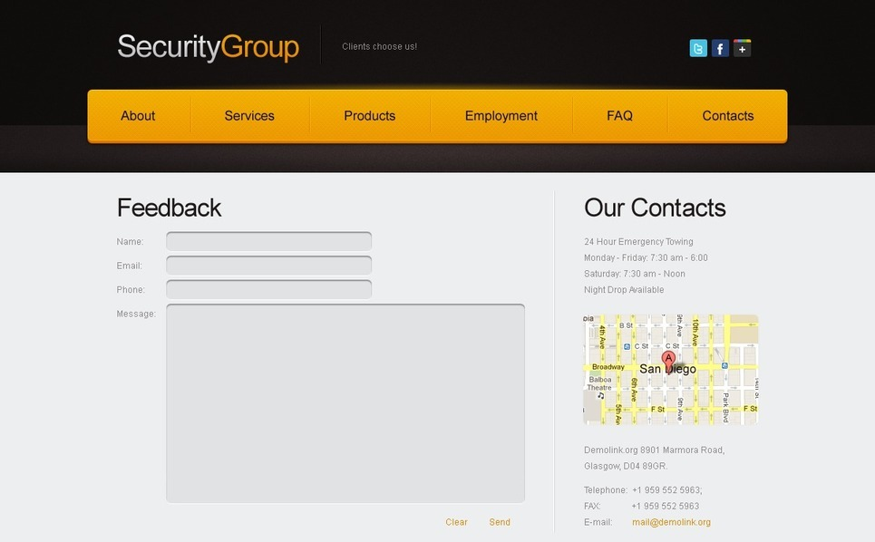 Free Website Template for Security Project Website Template New Screenshots BIG