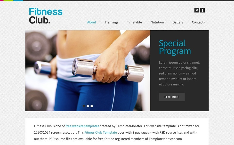 Free Website Template - Fitness Club Website Template New Screenshots BIG