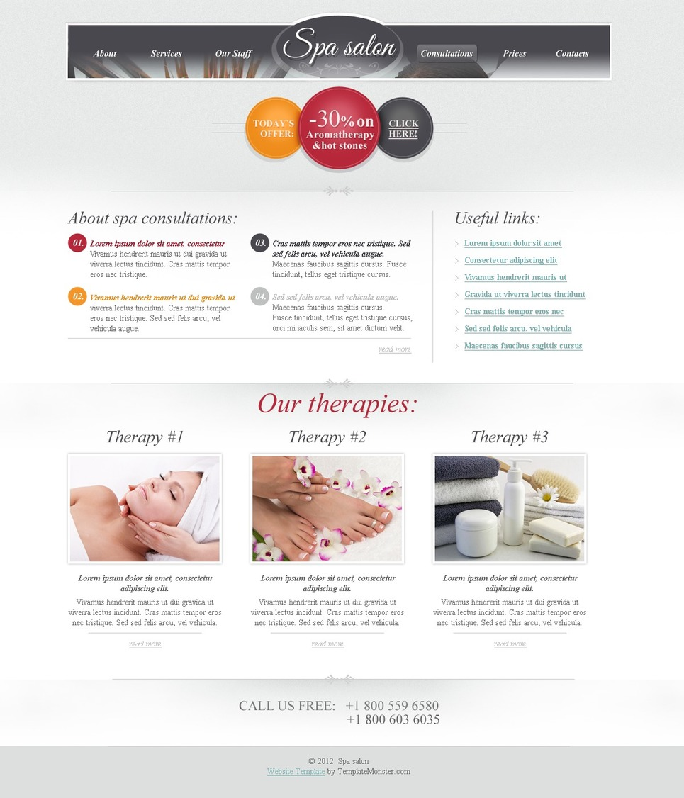 Free HTML Theme for Spa Salon Website Website Template New Screenshots BIG