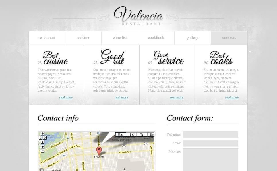 Free Website Template - Restaurant Business Website Template New Screenshots BIG