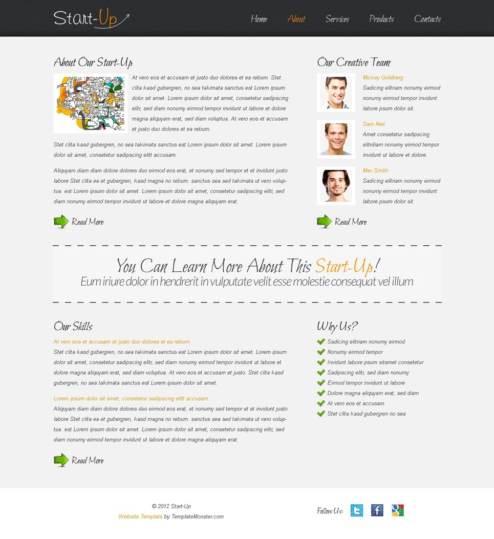 Free Website Template for a Business Website Website Template New Screenshots BIG