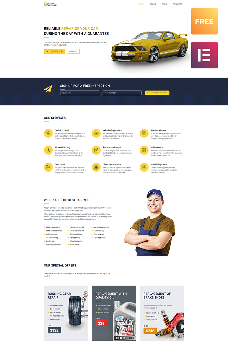 Free WordPress Responsive Template (WordPress) WordPress Theme New Screenshots BIG