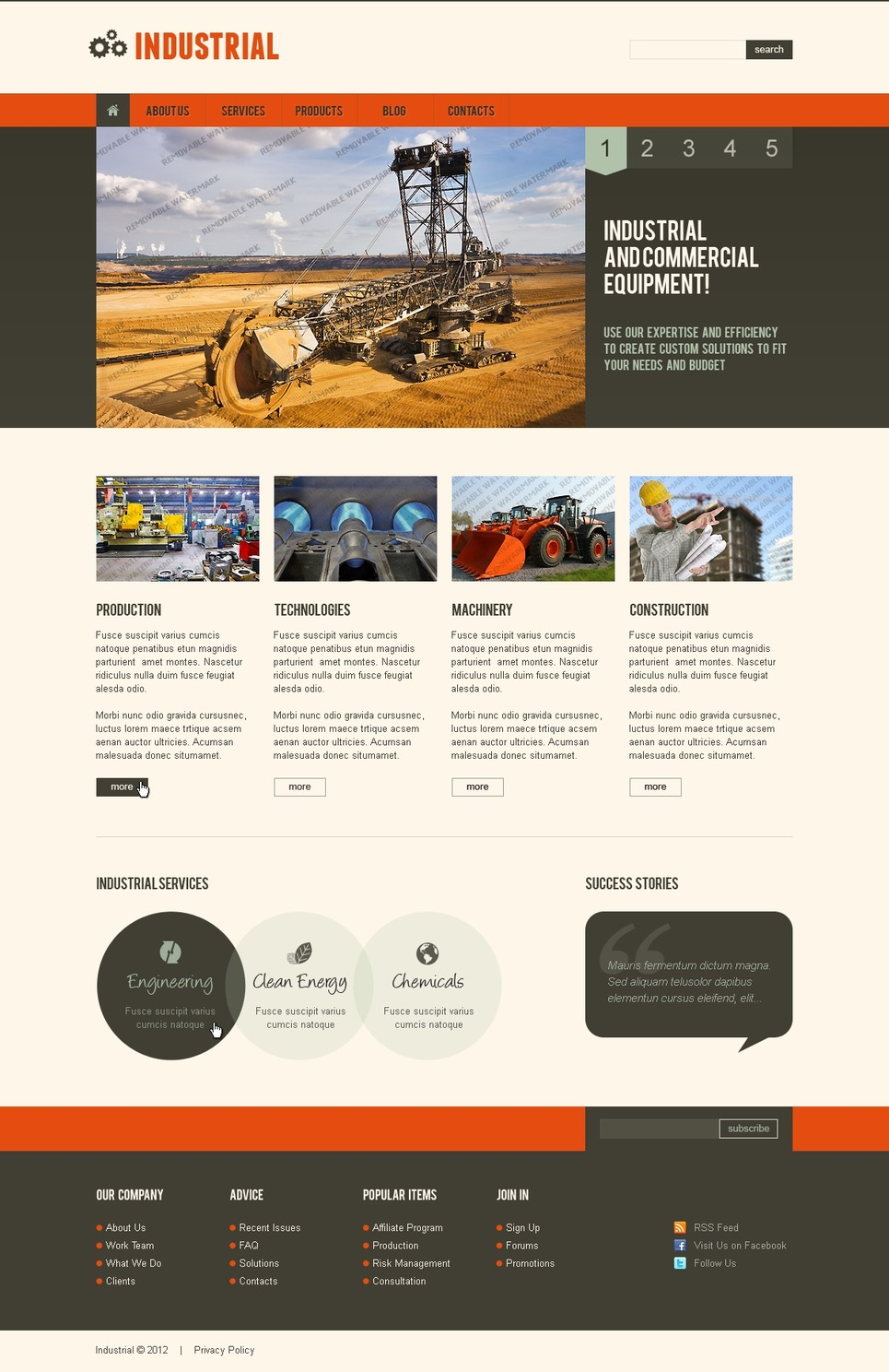 Free Responsive Joomla Template (Joomla) Joomla Template New Screenshots BIG