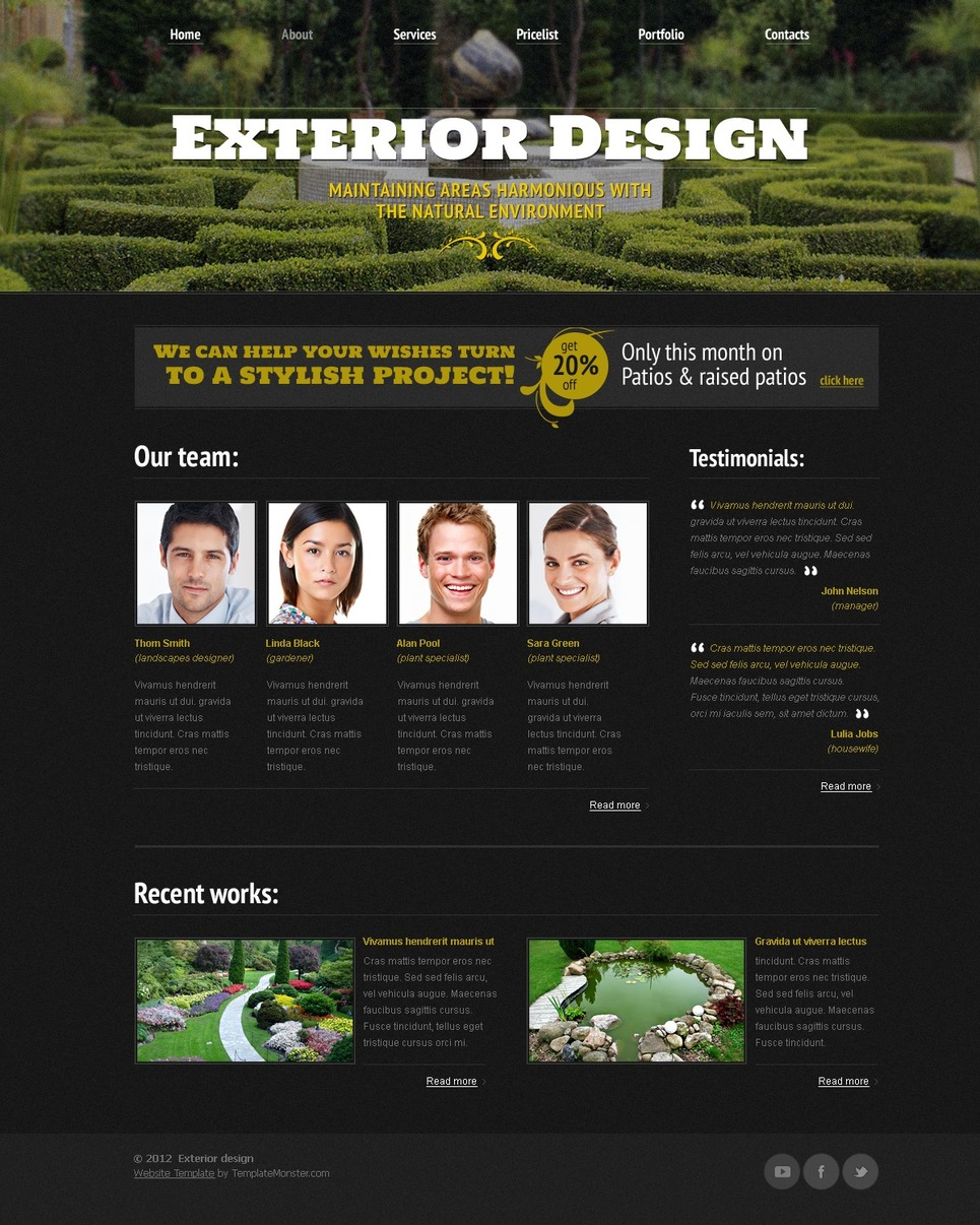 Free Website Template - Exterior Design Website Template New Screenshots BIG