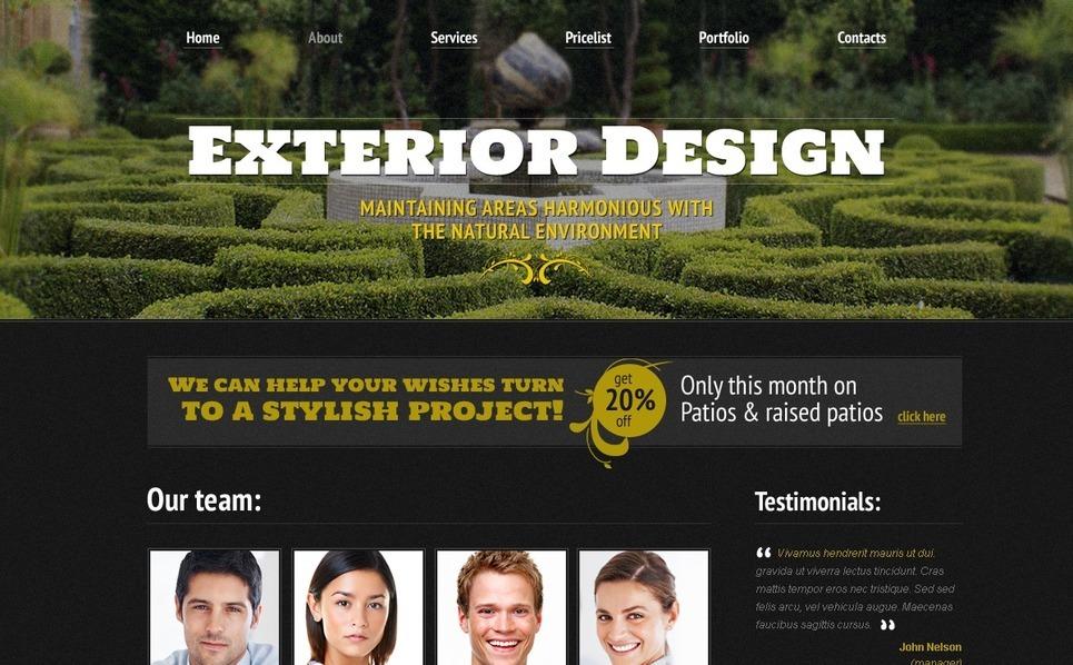 Free Website Template - Exterior Design Website Template New Screenshots BIG