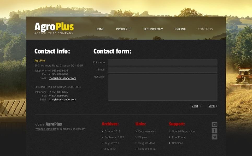 Free Website Template - Agriculture Website Template New Screenshots BIG