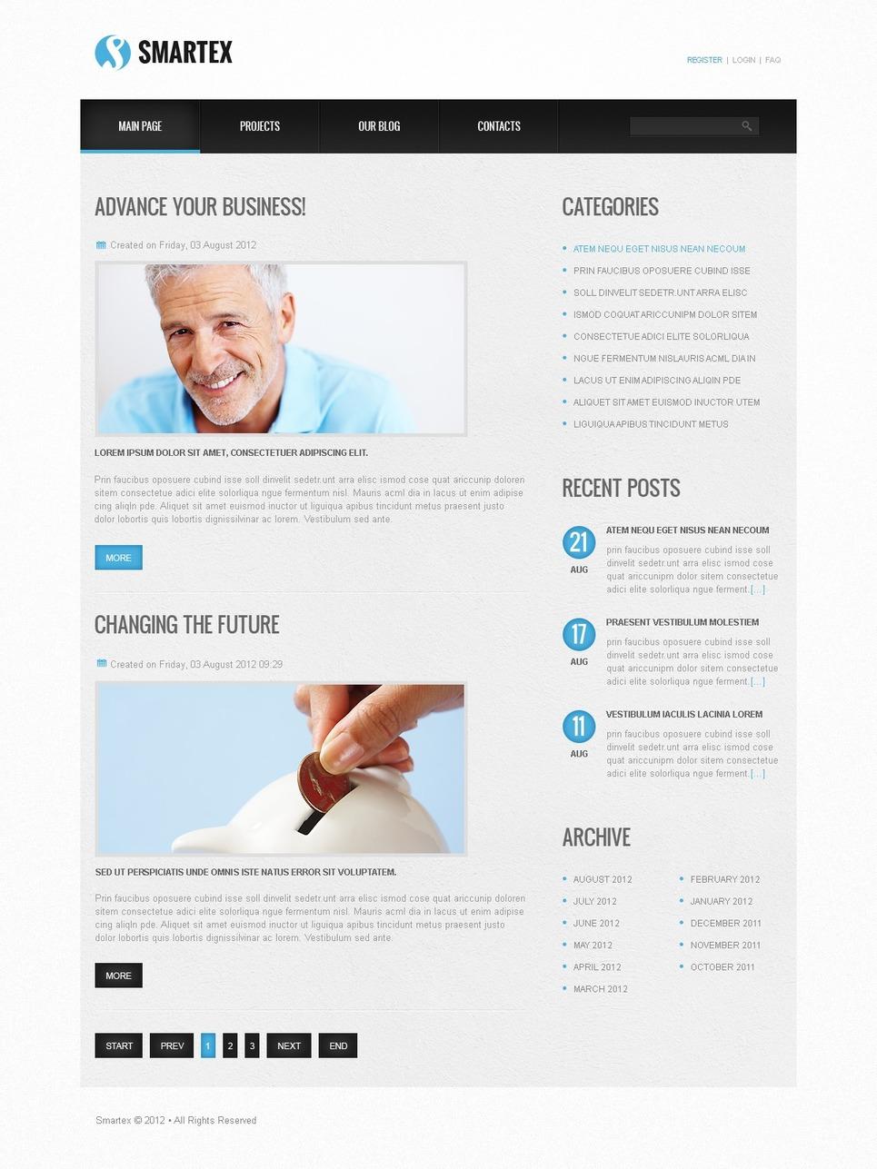 Free Joomla Business Template Joomla Template New Screenshots BIG