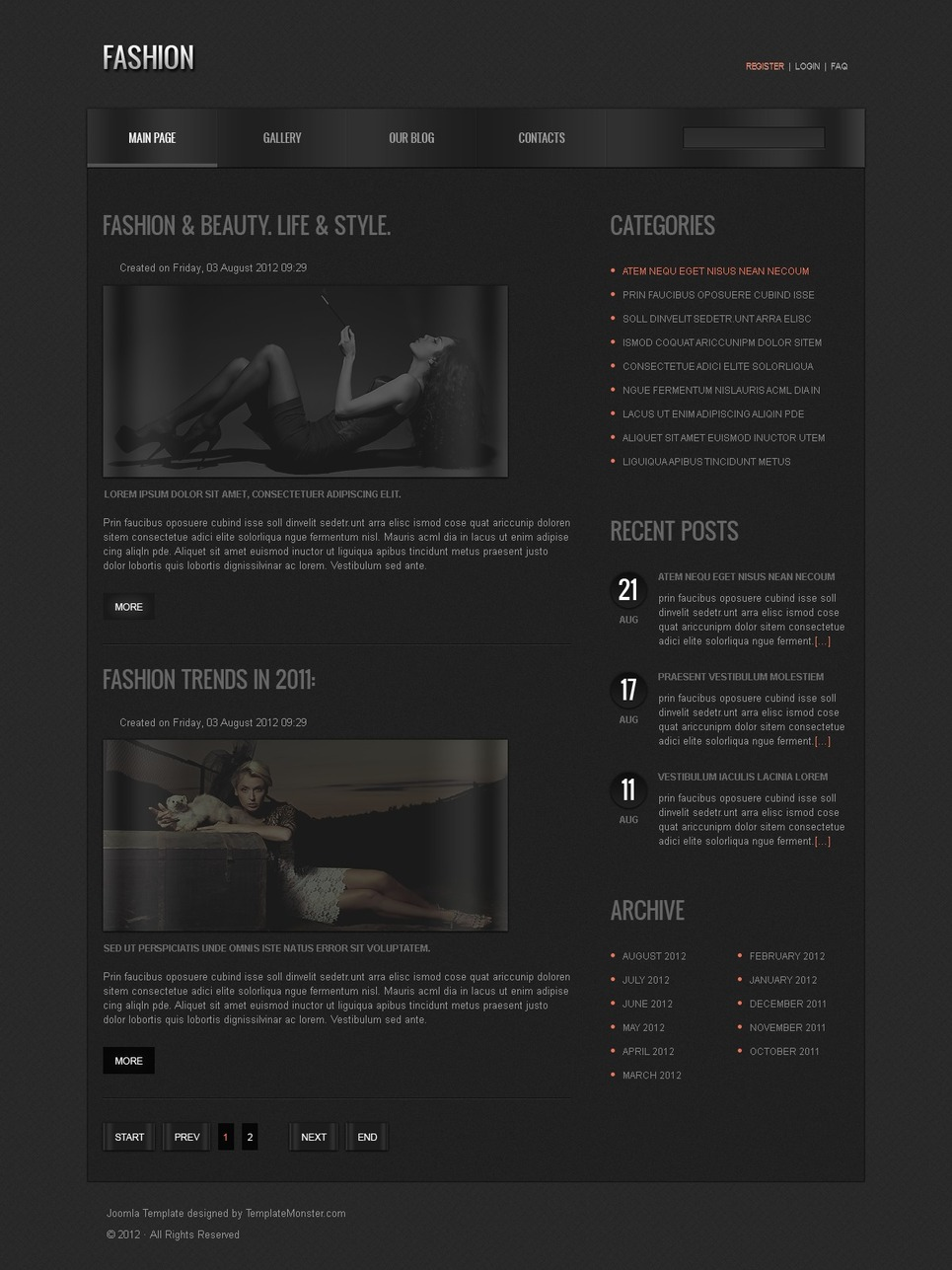 Free Joomla Fashion Template Joomla Template New Screenshots BIG