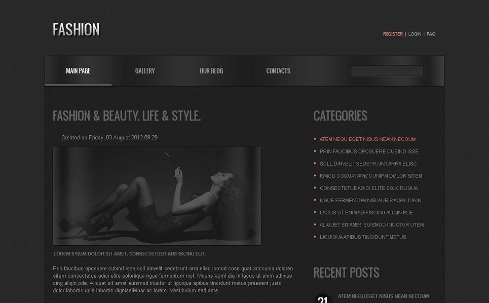 Free Joomla Fashion Template Joomla Template New Screenshots BIG