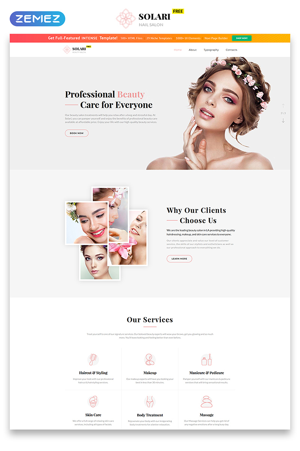 Free Bootstrap Template Website Template New Screenshots BIG