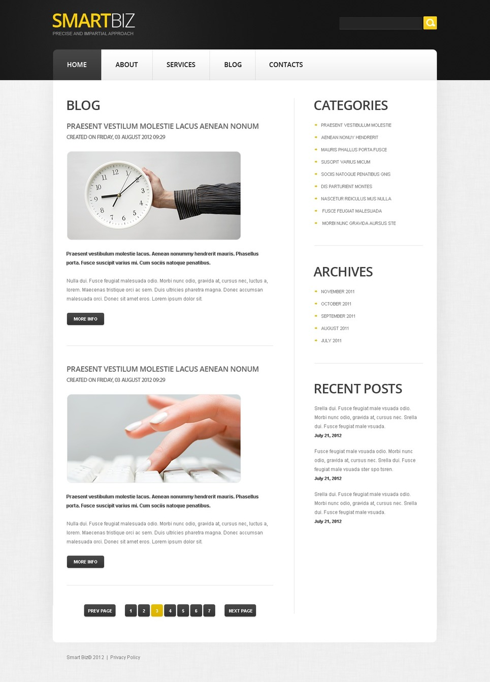 Free HTML Joomla Business Template Joomla Template New Screenshots BIG
