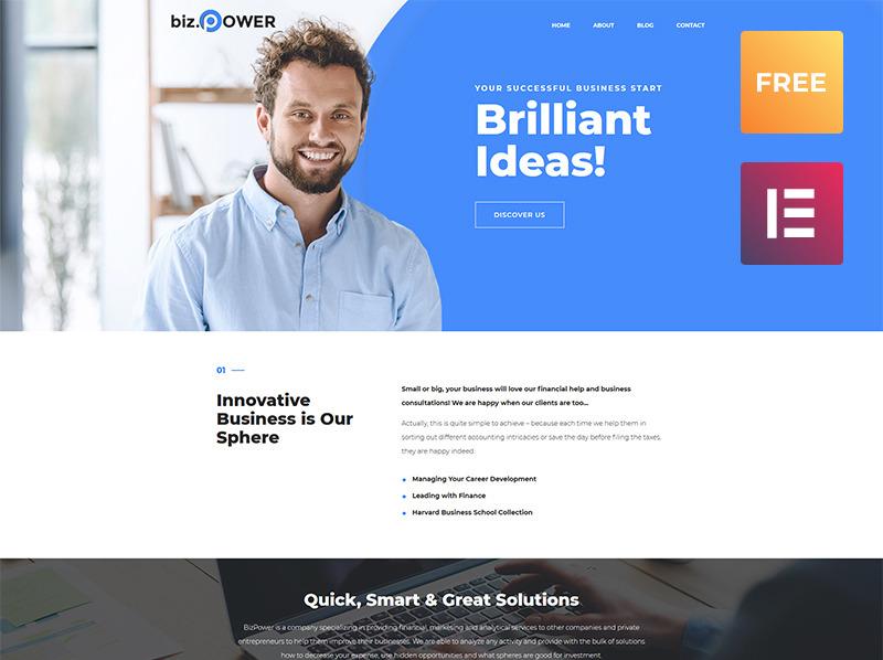 Free WordPress Business Theme WordPress Theme New Screenshots BIG
