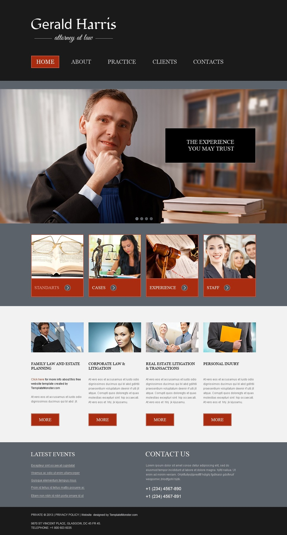 Free Website Template - Law Firm Website Template New Screenshots BIG
