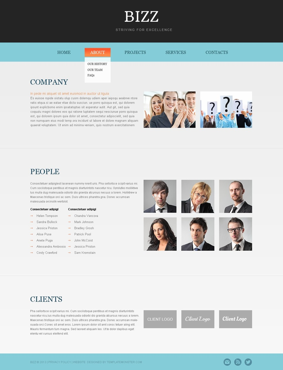 Free html5 business theme for Free website templates html5