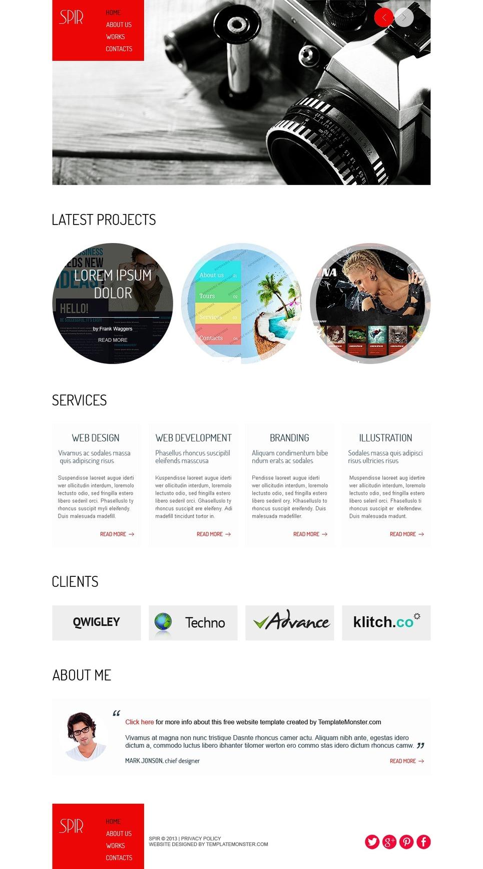 free html5 theme for portfolio website template new screenshots big