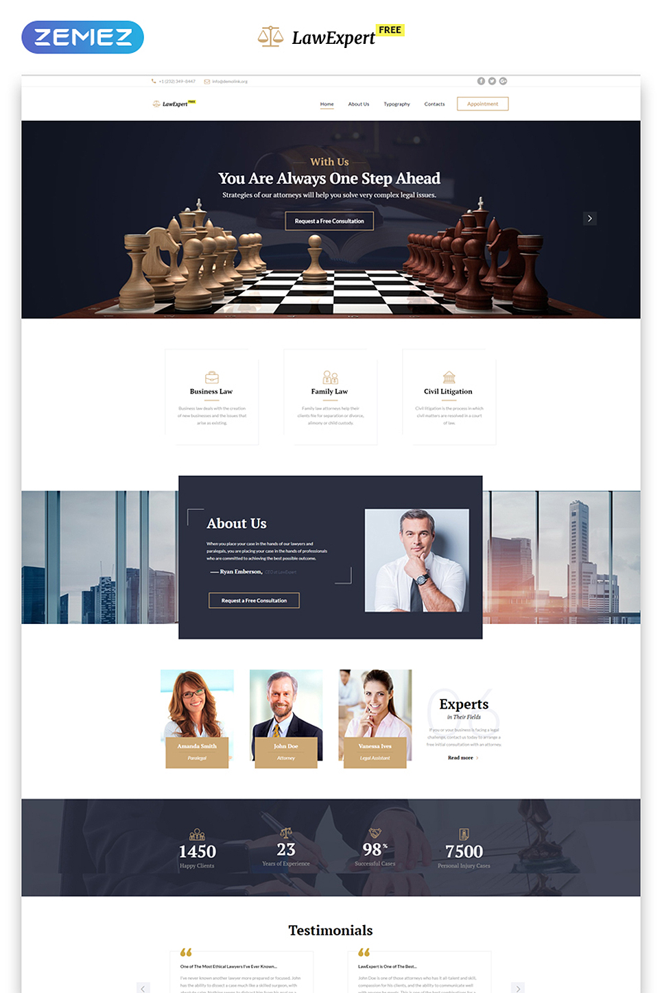 Free buiness website templates online websites and tools business website template suitable for law firm httptemplatemonsterfree responsive javascript accmission Choice Image