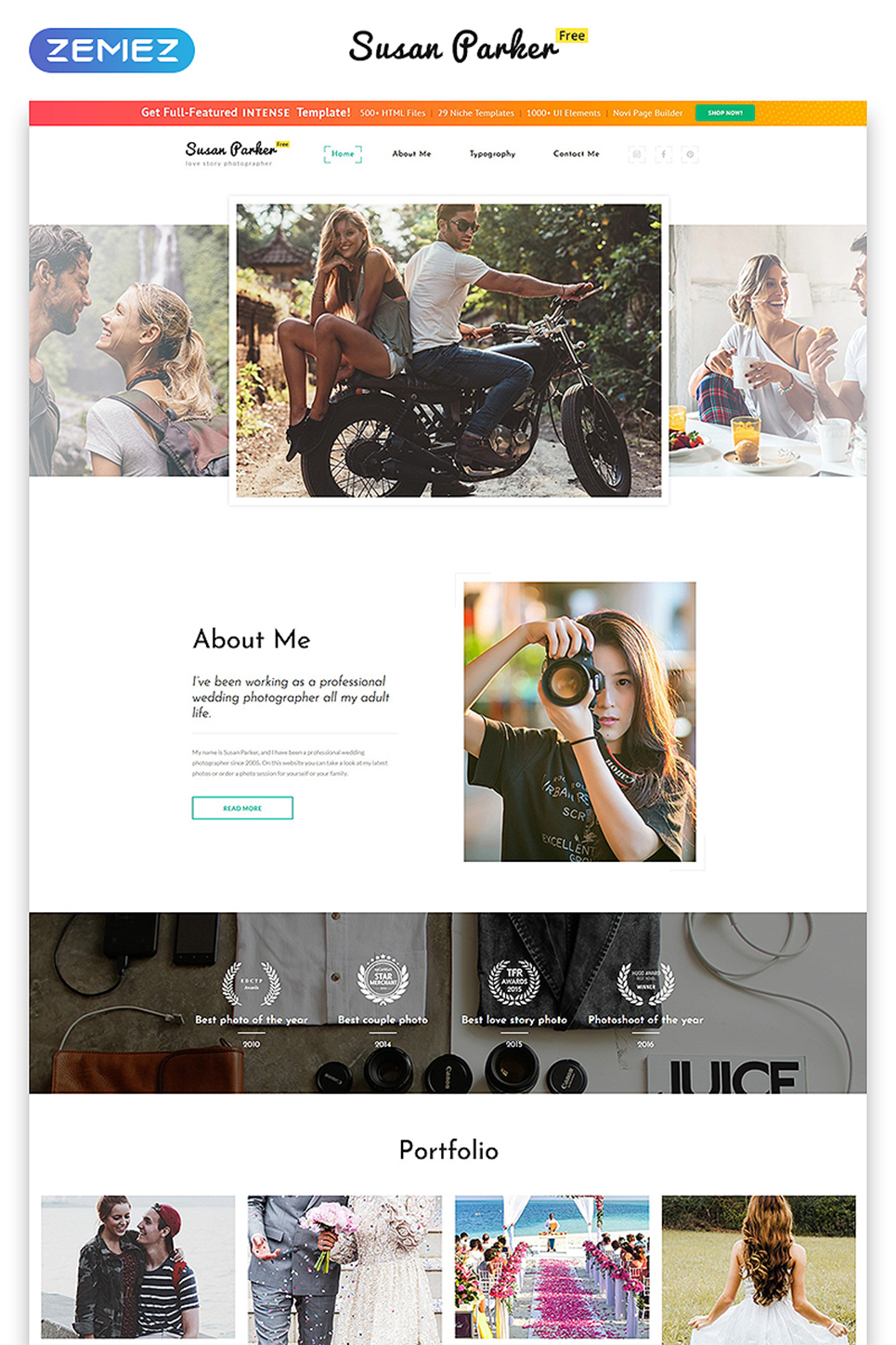Free Bootstrap 3.0 HTML Template Website Template New Screenshots BIG