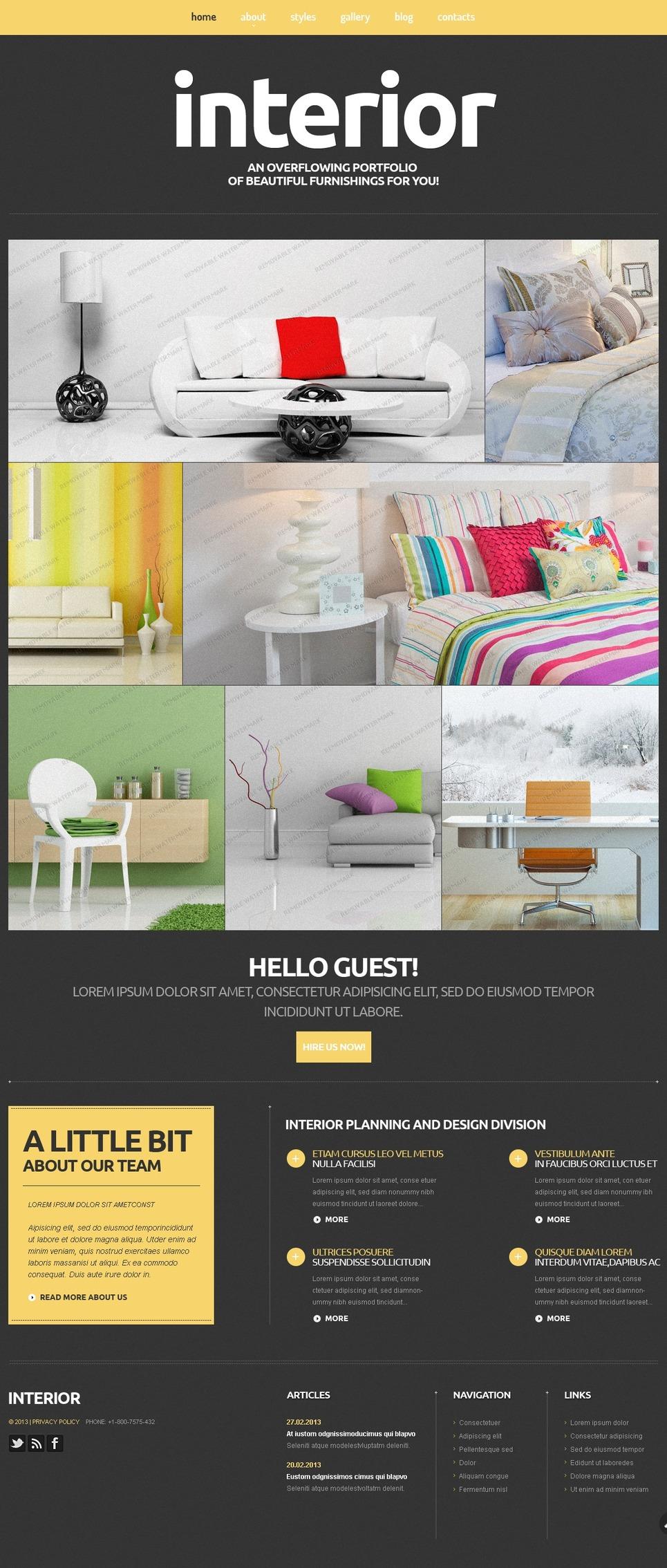 Free Interior Joomla 3 Template Joomla Template New Screenshots BIG