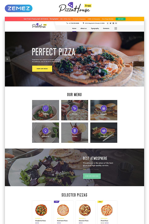 free html5 theme for restaurant website website template new