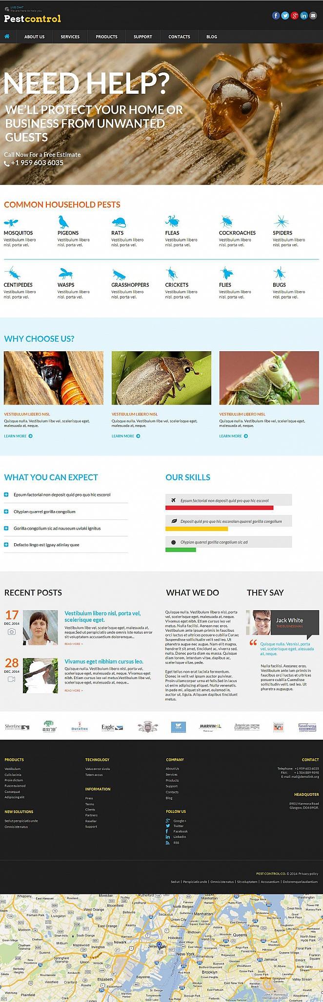 Home Pest Control Website Template - image