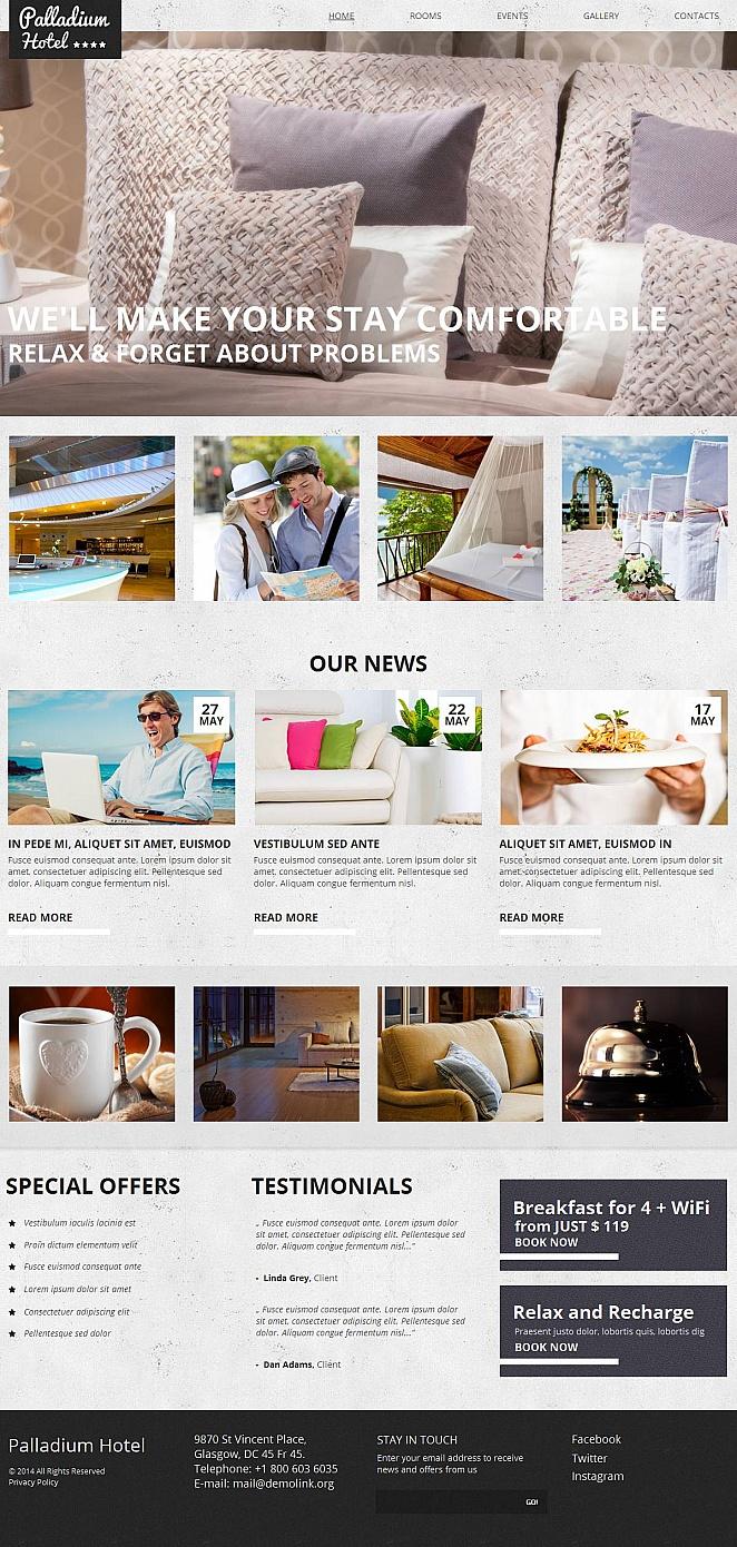MotoCMS HTML Plantilla #51709 de categoría Hoteles - image