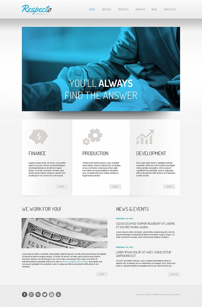 Consulting Website Template with jQuery Content Slider - image