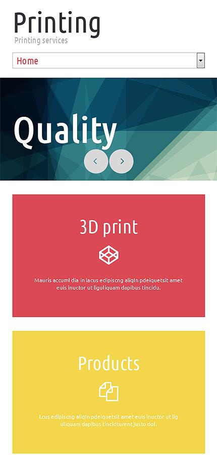 print shop responsive website template 51780. Black Bedroom Furniture Sets. Home Design Ideas