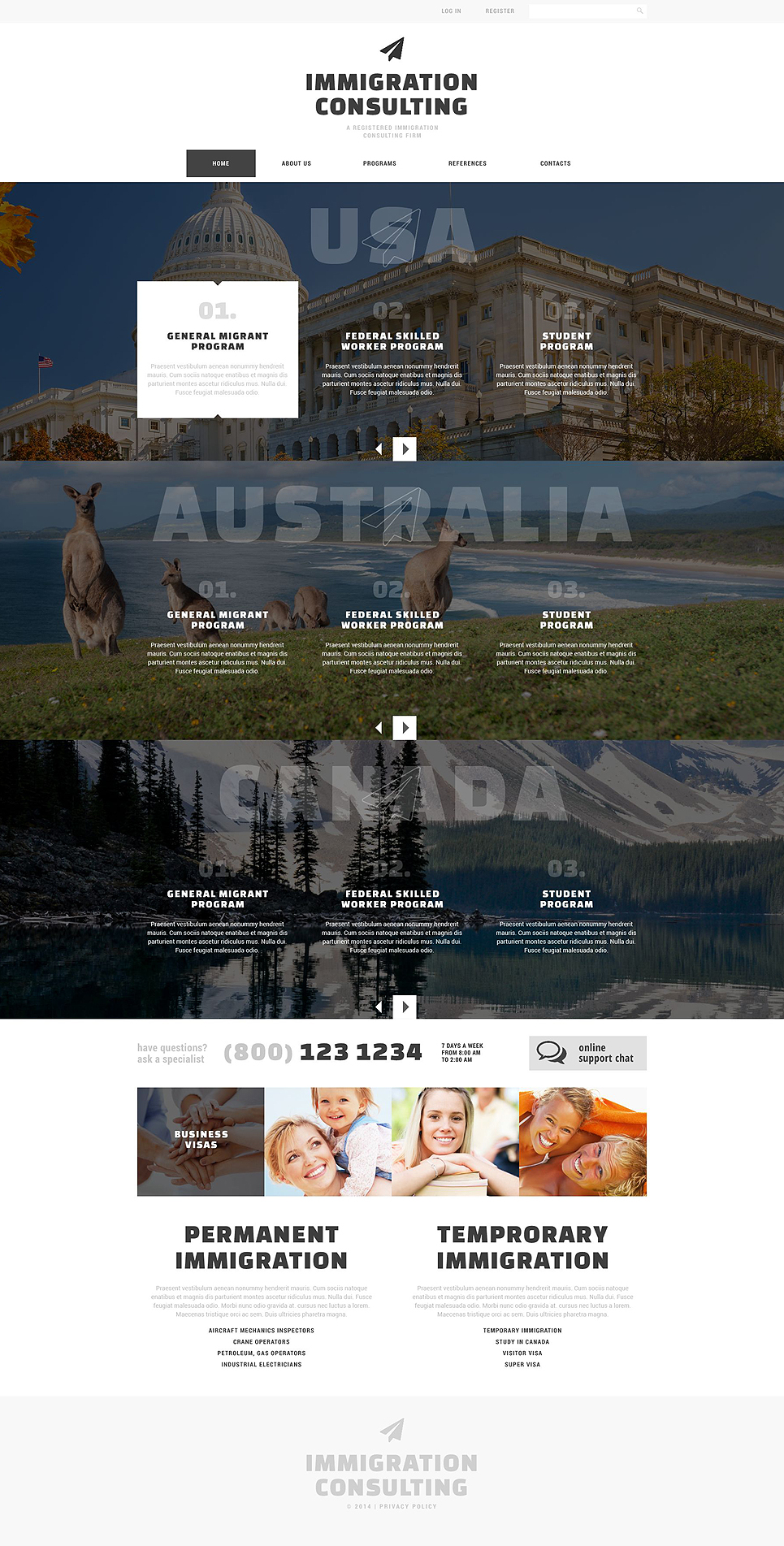 Immigration Consulting Responsive Website Template
