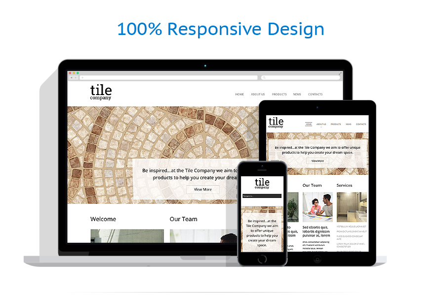 Interior Design Responsive Website Template 51856