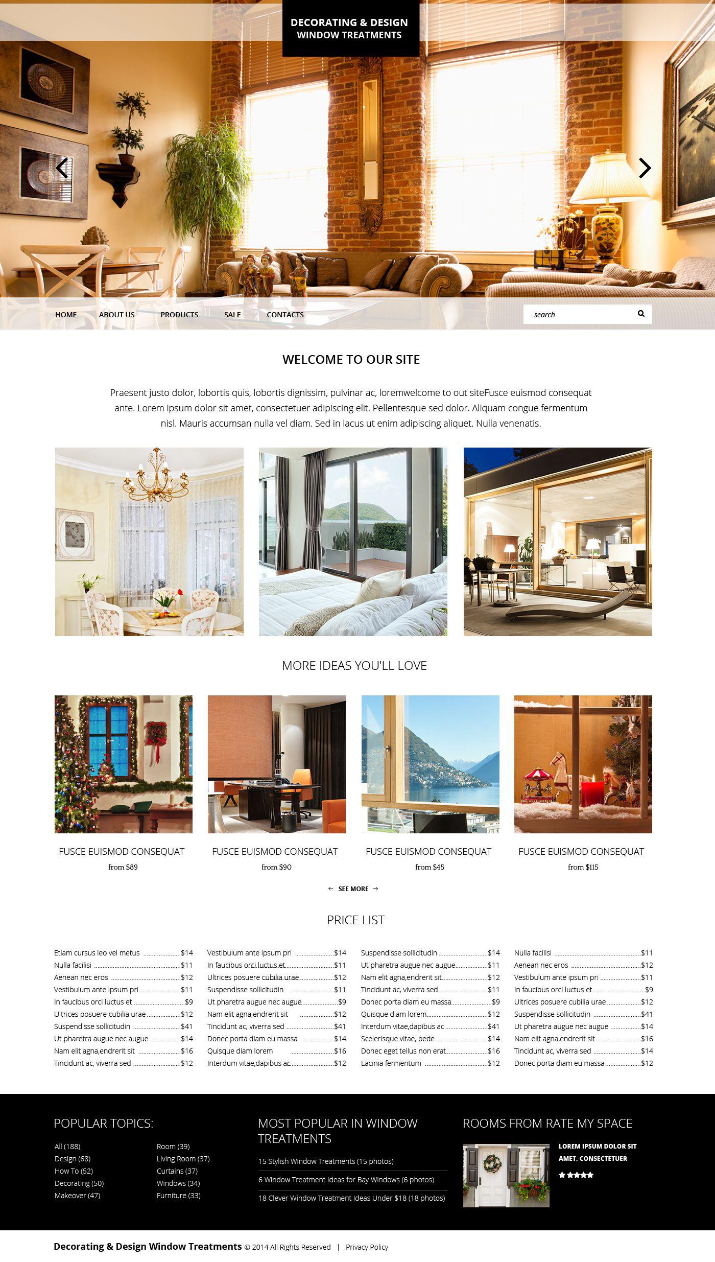 Plantilla web 51857 para sitio de decoraci n del hogar for Webs decoracion hogar