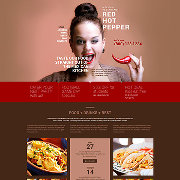 Food web templates free website templates for free download about advertising advertising food food free website templates food css food fast pronofoot35fo Images