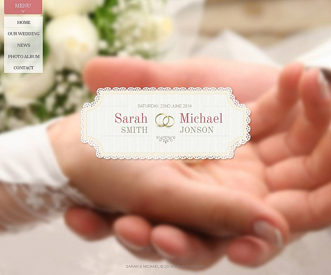 Creative Template to Make a Wedding Website - image