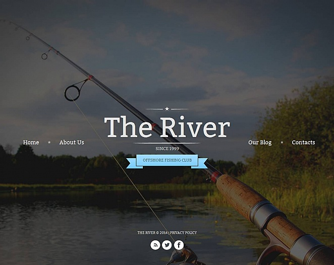 Fishing Club Website Template with Large Image Background - image