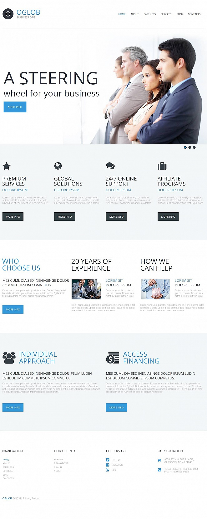 Business Website Template with Homepage Slider - image
