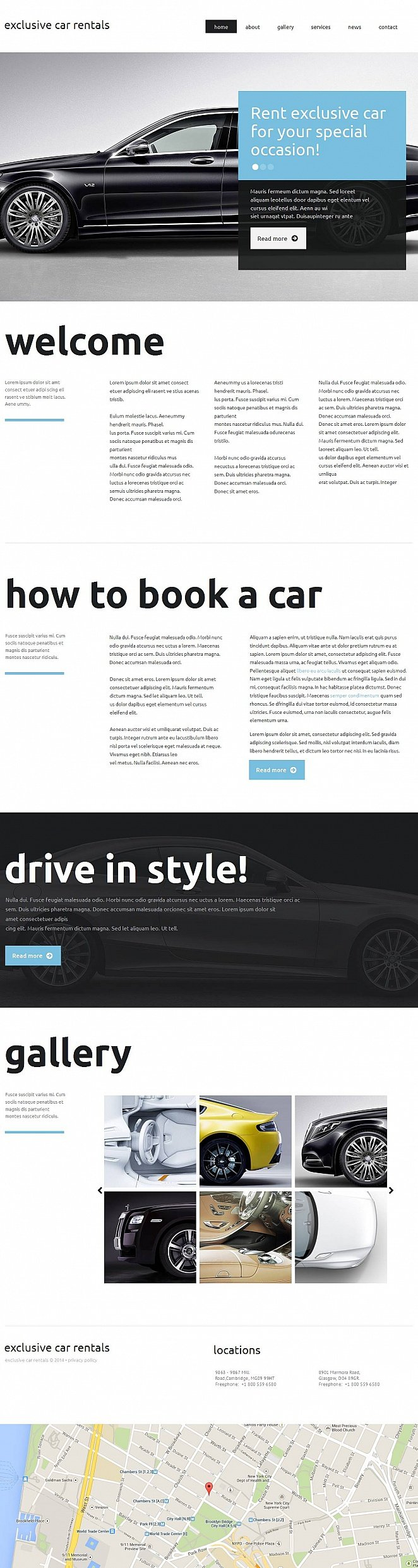Website Template for Car Rental Business - image