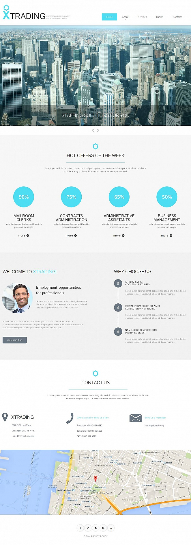 Employment Services Website Template - image