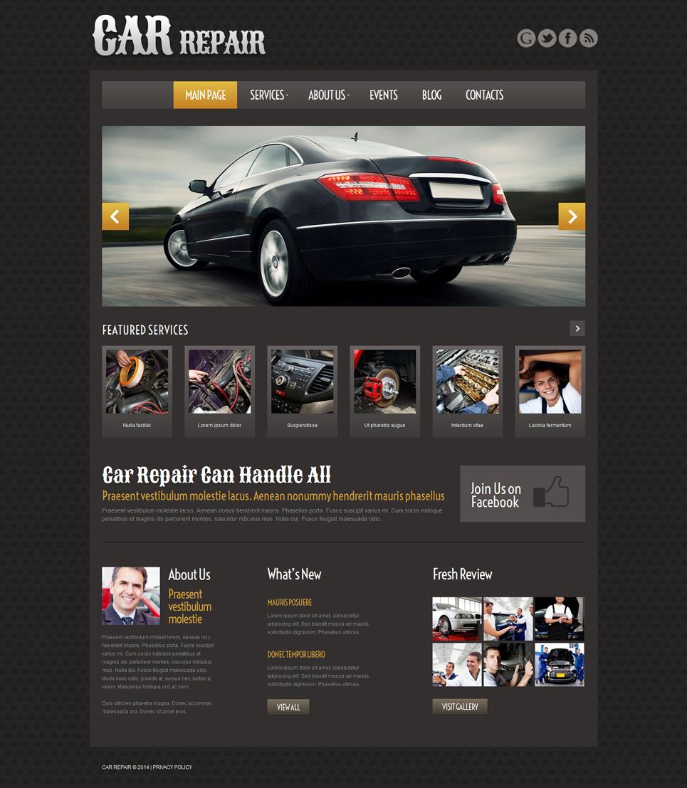 Car repair responsive wordpress theme 51975 for Templat monster