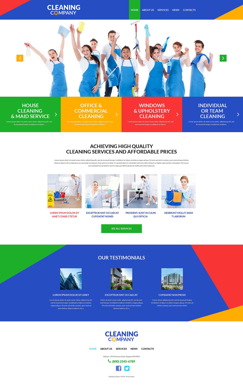 cleaning services wordpress theme  51991