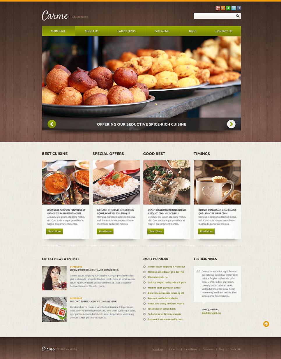 Restaurant Joomla Templates Joomla Template 52106 in Cafe and Restaurant category