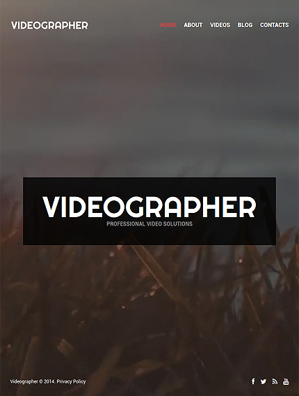 Videographer Portfolio Wordpress Theme 52175