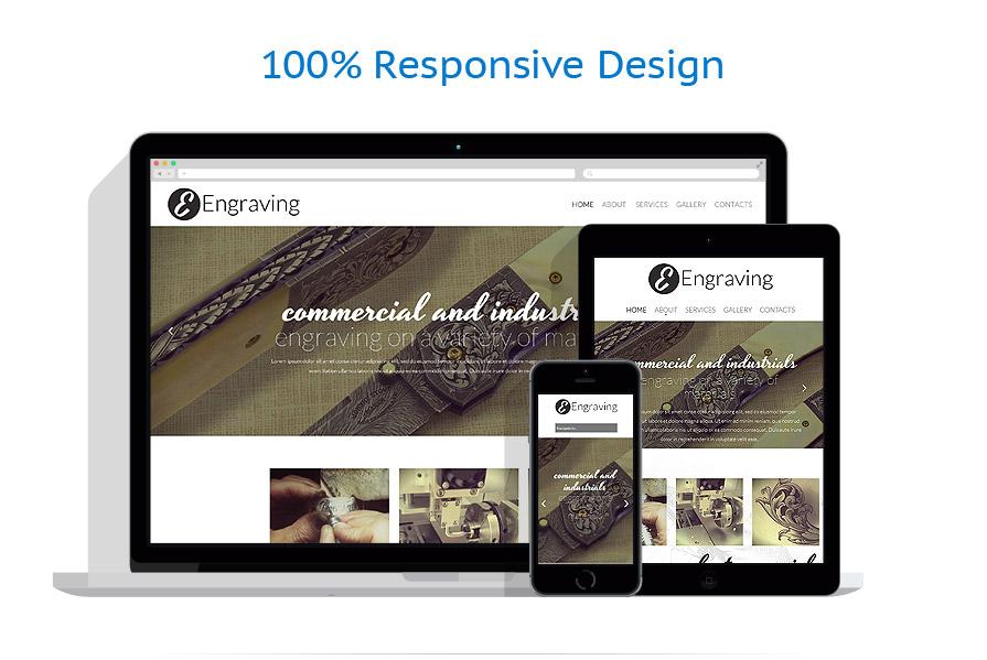 print shop responsive website template 52189. Black Bedroom Furniture Sets. Home Design Ideas