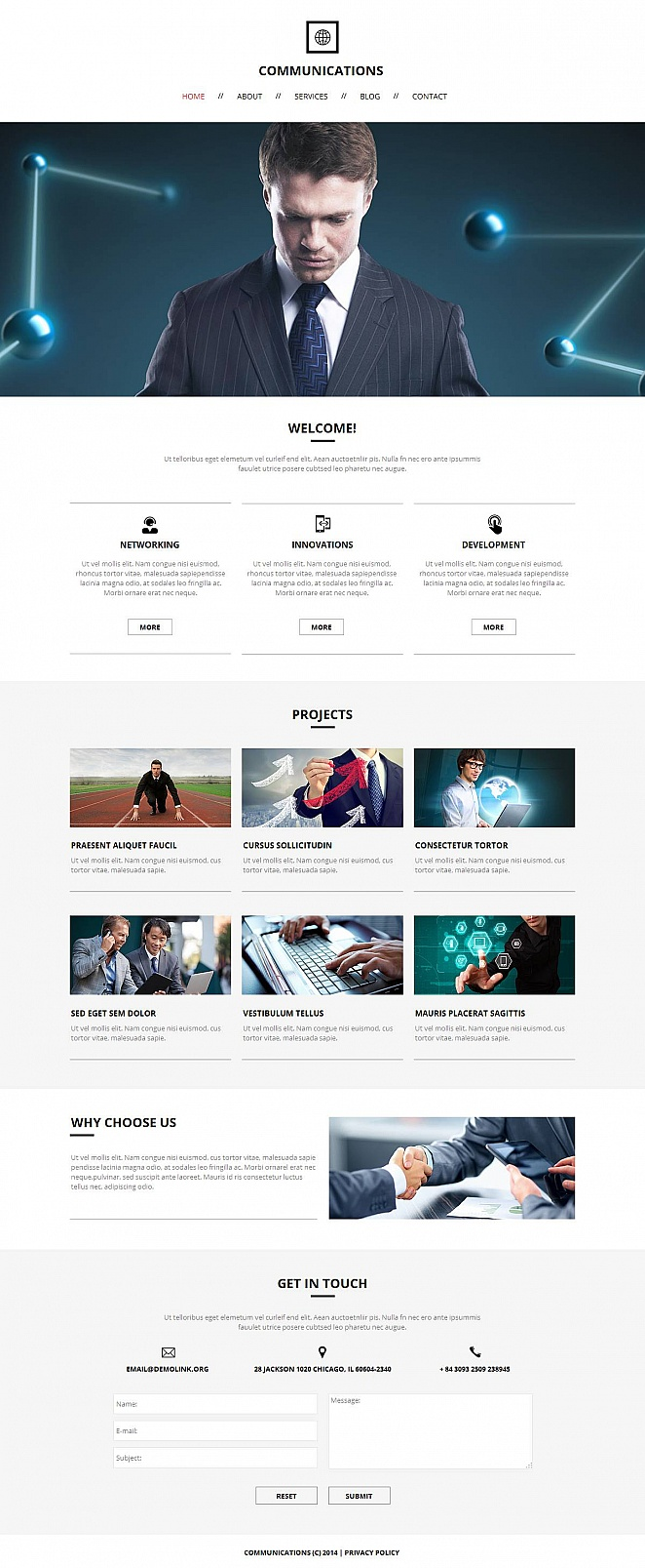 Minimalist Website Template for Communication Business Services - image